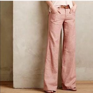 Anthro Daughters of the Liberation Wide Leg Chinos